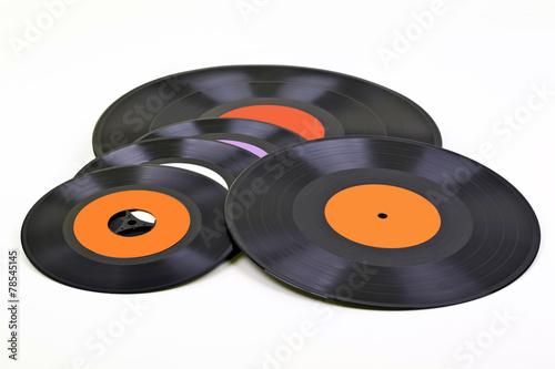 Leinwanddruck Bild Schallplatten