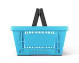 Empty plastic shopping basket