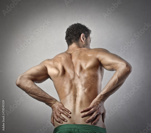 canvas print picture A man's back