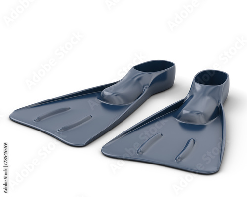 Blue flippers close-up - 78545559