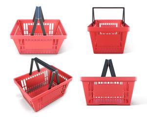 Set of plastic baskets