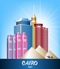 Colorful City of Cairo Egypt Famous Buildings