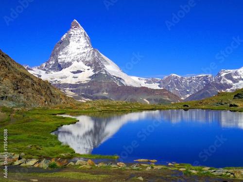 Clear beautiful view of Matterhorn, Zermatt, Switzerland