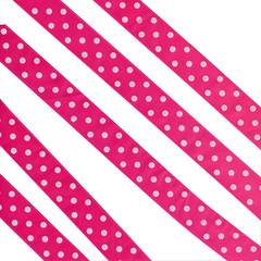 fabric ribbon in pink peas