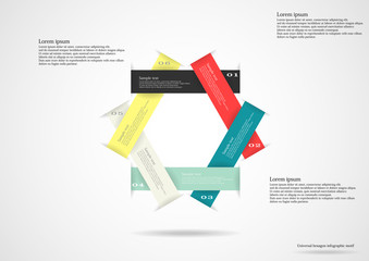 Infographic consists of six separate ribbons