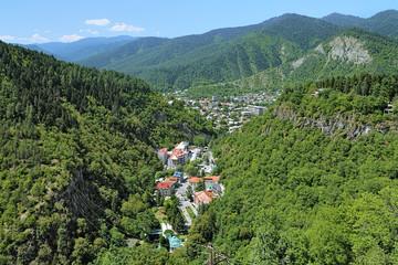 View of Borjomi from a ferris wheel, Georgia