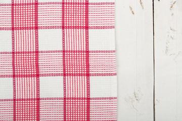 napkin over planks