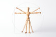 Leinwanddruck Bild - Vitruvianischer Mensch, Leonardo da Vinci