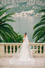 bride's portrait in picturesque scenery