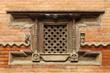 Ancient window of Hanuman Dhoka Durbar