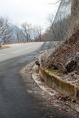 Road landslide