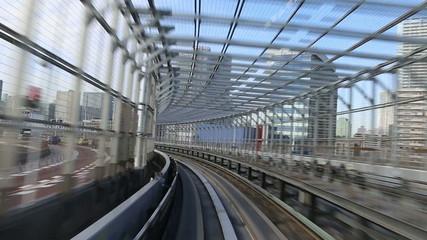 modern monorail in Tokyo