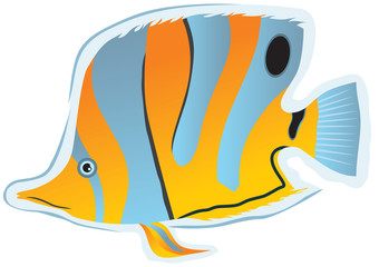 sticker tropical fish