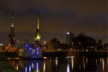 Puerto Madero by night, Argentina