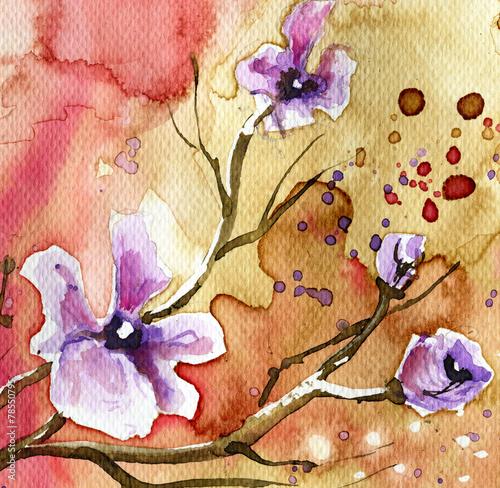 Zdjęcia na płótnie, fototapety na wymiar, obrazy na ścianę : background flowers