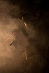 Jagdkommando in the smoke and fire