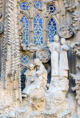 Details of Temple de La Sagrada Familia