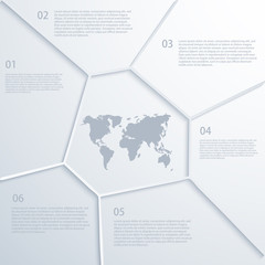 Vector modern map infographic