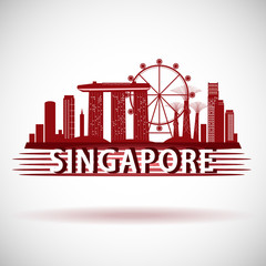 odern Singapore City Skyline Design