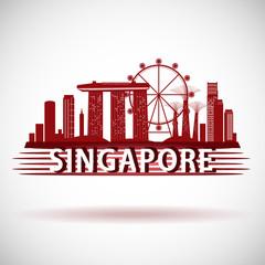 odern Singapore City Skyline Design