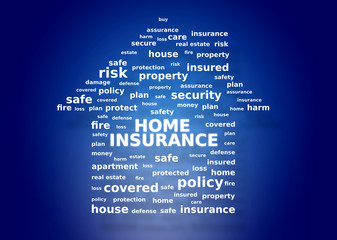 Home insurance concept.