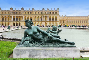Statue of La Saône at Water Parterre, Versailles, France