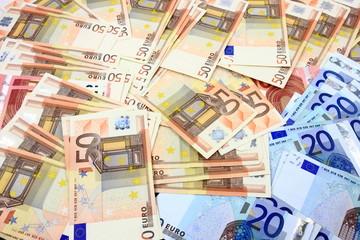 Ausgebreitete Geldscheine