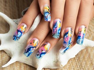 Nails sea design.