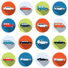 Car vector icons