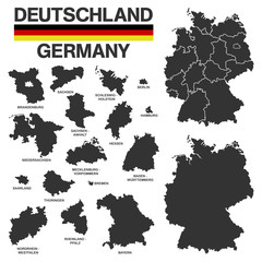 german map - high details