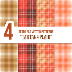 Tartan and Plaid Seamless Vector Pattern Set