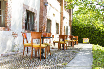 Chairs and tables, agritourism