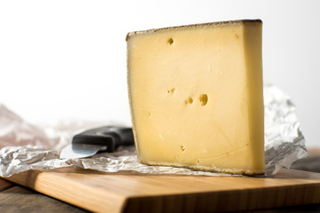 Large slice of Gruyere French Cheese