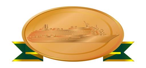 客船銅メダル(リボン)