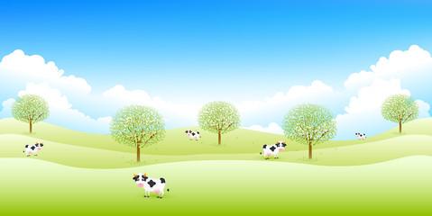 牛 牧場 背景