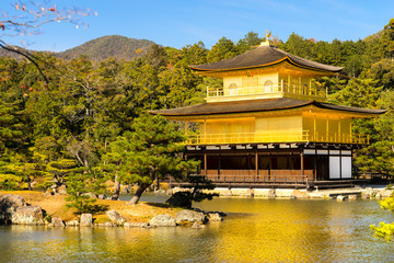Kinkakuji (Golden Pavilion), Kyoto, Japan.