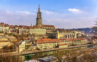 View of Bern with its Munster - Switzerland