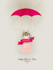 Happy Women's Day decorative dress
