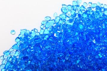 青いガラス素材 白背景
