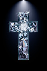 Diamond cross cover, vector illustration