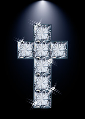 Cross diamond religion, vector illustration