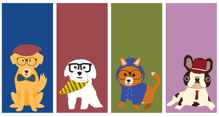 The Hipster dogs banner