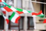 Fototapety Italian flags on the wind