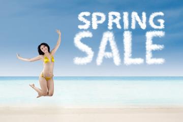 Spring sale promotion concept