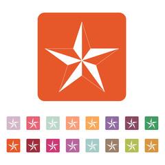 The star icon. Star symbol. Flat