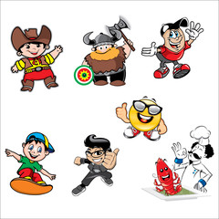 Cartoon Character Set