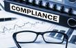 Leinwandbild Motiv compliance on document folder