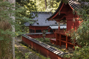wooden shrines in Nikko
