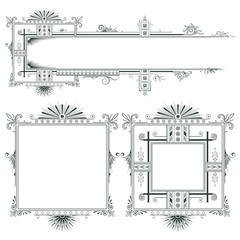 Vector elements for the design of diploma, advertisements, cards