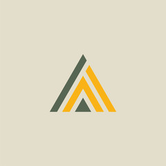 triangle line abstract logo
